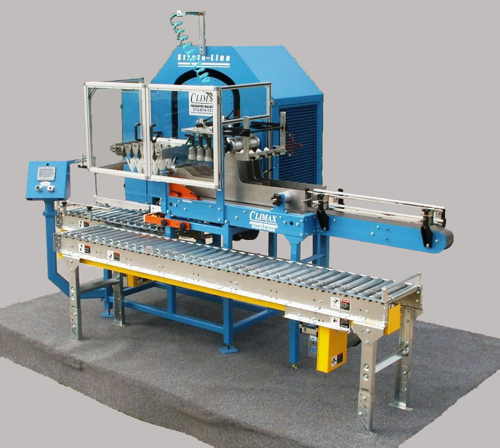 Climax Packaging Machinery Soft Case Packer designed for wine and beer bottle packaging and uncasing